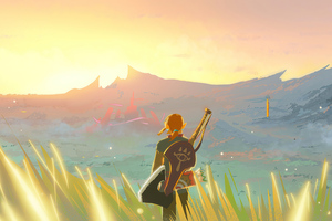 The Legend Of Zelda Breath Of The Wild Paint Art 4k Wallpaper