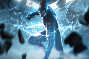The Lightning Flash Justice League 4k