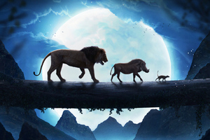 The Lion King Simba Pumbaa Timon Wallpaper