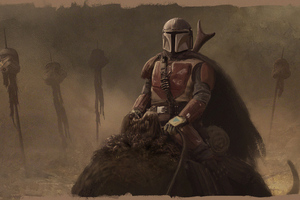 The Mandalorian 2019 4kart Wallpaper