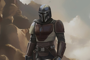 The Mandalorian 4k Artwork Wallpaper