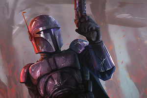 The Mandalorian Art New Wallpaper