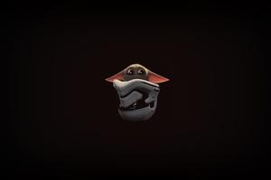 The Mandalorian Baby Yoda Minimal 4k