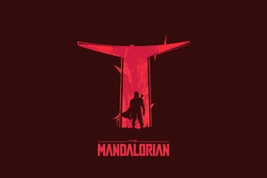 The Mandalorian Digital Minimal Art 4k