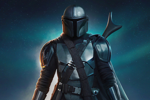 The Mandalorian Light And Dark Sabers 4k Wallpaper