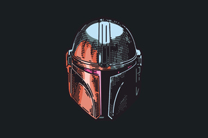 The Mandalorian Mask 4k Wallpaper