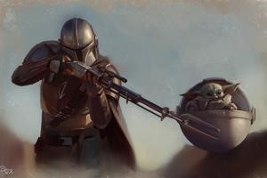 The Mandalorian Yoda 4k 2020