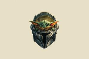 The Mandalorian Yoda Helmet 4k