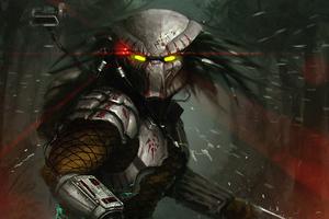 The Predator Artwork 4k