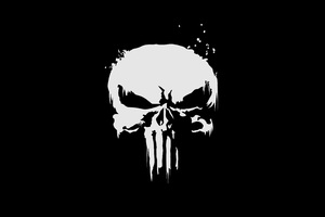 The Punisher Logo 4k Wallpaper