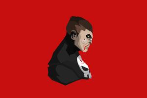 The Punisher Minimalism 4k Wallpaper