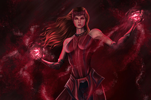 The Scarlet Witch Wanda Maximoff From Marvel