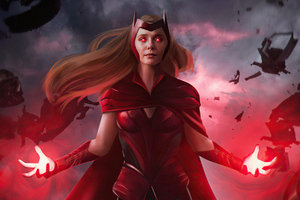 The Scarlet Witch Wanda Vision 4k Wallpaper