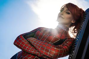 The Spidergirl Cosplay 4k Wallpaper