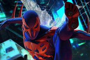 The Spiderman 2099 5k Wallpaper