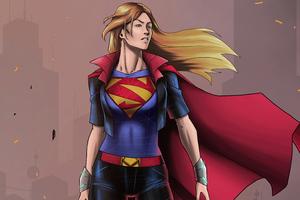 The Supergirl Sketch Comic Art 5k Wallpaper