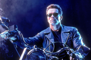 The Terminator On Bike Wallpaper