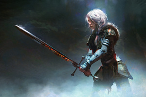 The Trail By Warrior Girl Wallpaper