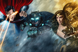 The Trinity Superheroes Art