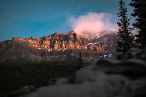 The View Of Mount Temple Banff National Park Wallpaper