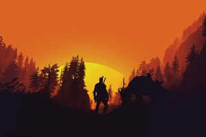 The Witcher 3 Wild Hunt 4k Minimal Art