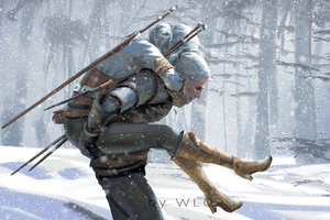 The Witcher 3 Wild Hunt Artwork By Wlop