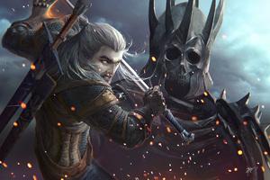 The Witcher 3 Wild Hunt Gerald Artwork