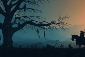 The Witcher 3 Wild Hunt Minimalist Wallpaper