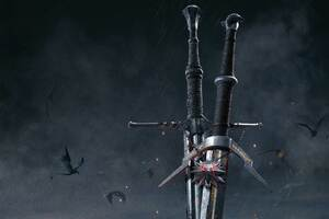 The Witcher 3 Wild Hunt Sword 10k Wallpaper
