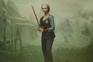 The Witcher Freya Allan Ciri Is Destined To Fight Wallpaper