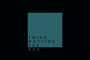 Think Outside The Box HD Wallpaper
