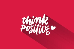 Think Positive Wallpaper