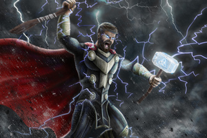 Thor 10k Art Wallpaper