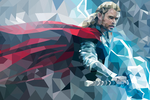 Thor Abstract Wallpaper