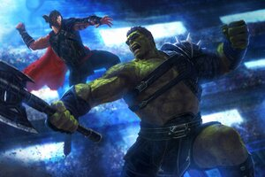 Thor And Hulk 4k Artwork