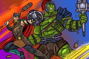 Thor And Hulk 4k Wallpaper