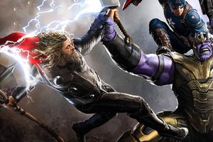 Thor And Thanos Avengers Endgame