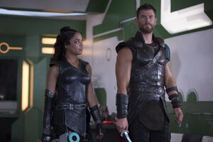 Thor And Valkyrie In Thor Ragnarok