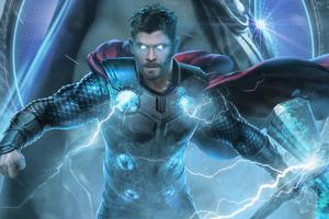 Thor Avengers End Game 2019 Wallpaper