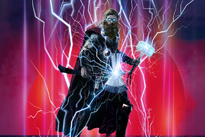 Thor Avengers Endgame Artwork 2019