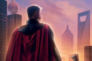 Thor Avengers Endgame Chinese Poster Wallpaper