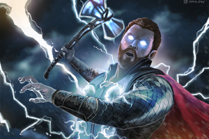 Thor Avengers Infinity War Art 4k Wallpaper