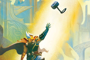 Thor Catching Hammer Wallpaper