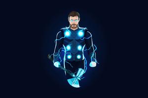 Thor Chris Hemsworth Minimal Art 5k Wallpaper