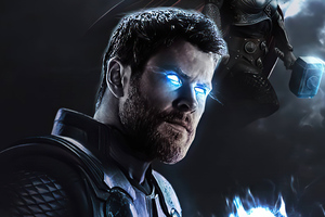 Thor Glowing Eyes 4k Wallpaper