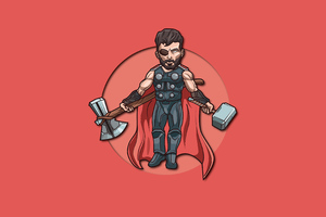 Thor God Of Thunde 4k Minimalism Wallpaper