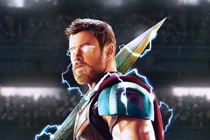 Thor God Of Thunder Artwork HD Wallpaper