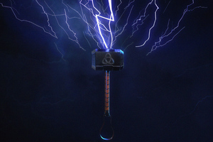 Thor Hammer 4k New Wallpaper