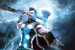 Thor Lighting 4k Wallpaper