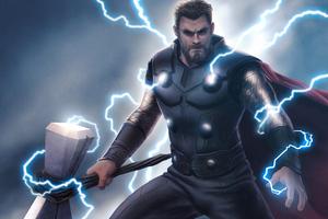 Thor Lighting God Art 4k
